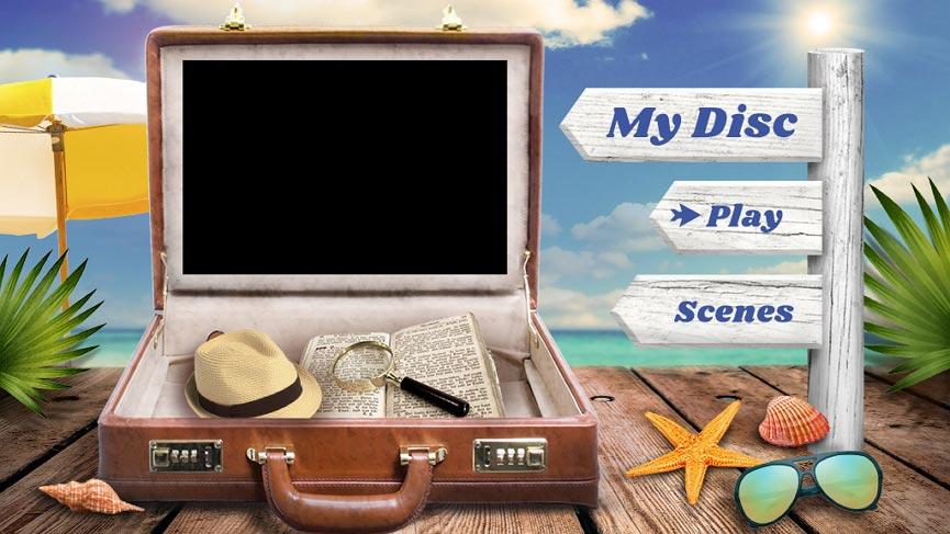 DVDメニューテンプレート:旅行2